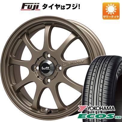 タイヤはフジ 送料無料 LEHRMEISTER レアマイスター LMスポーツファイナル(ブロンズ) 4.5J 4.50-14 YOKOHAMA エコス ES31 165/60R14 14インチ サマータイヤ ホイール4本セット