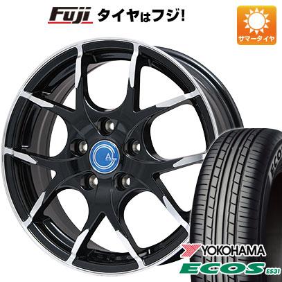 タイヤはフジ 送料無料 BRANDLE ブランドル M69B 6J 6.00-16 YOKOHAMA エコス ES31 205/60R16 16インチ サマータイヤ ホイール4本セット