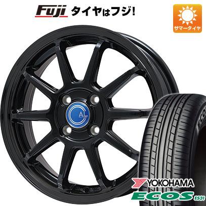 タイヤはフジ 送料無料 BRANDLE-LINE ブランドルライン カルッシャー ブラック 4.5J 4.50-15 YOKOHAMA エコス ES31 165/50R15 15インチ サマータイヤ ホイール4本セット