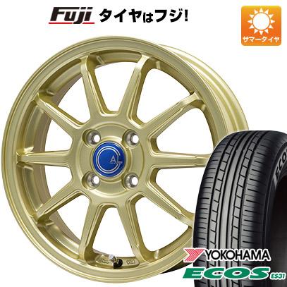 タイヤはフジ 送料無料 BRANDLE-LINE ブランドルライン カルッシャー ゴールド 5.5J 5.50-14 YOKOHAMA エコス ES31 185/70R14 14インチ サマータイヤ ホイール4本セット