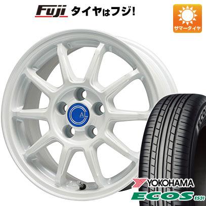 タイヤはフジ 送料無料 BRANDLE-LINE ブランドルライン カルッシャー ホワイト 6.5J 6.50-16 YOKOHAMA エコス ES31 185/55R16 16インチ サマータイヤ ホイール4本セット