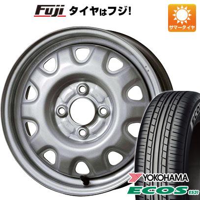 タイヤはフジ 送料無料 ELBE エルベ オリジナル スチール M73 4.5J 4.50-14 YOKOHAMA エコス ES31 165/55R14 14インチ サマータイヤ ホイール4本セット