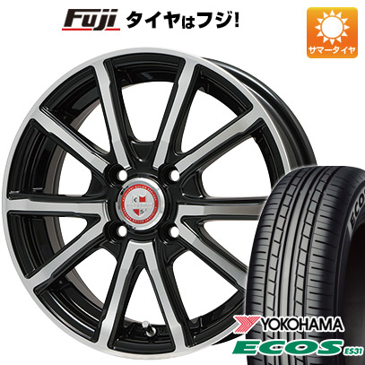 タイヤはフジ 送料無料 BIGWAY ビッグウェイ EXPLODE BPV 4.5J 4.50-14 YOKOHAMA エコス ES31 155/65R14 14インチ サマータイヤ ホイール4本セット