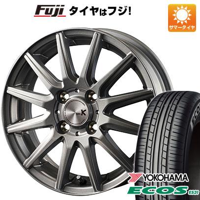 タイヤはフジ 送料無料 ソリオ(MA36S) INTER MILANO インターミラノ スペックK 4.5J 4.50-15 YOKOHAMA エコス ES31 165/65R15 15インチ サマータイヤ ホイール4本セット