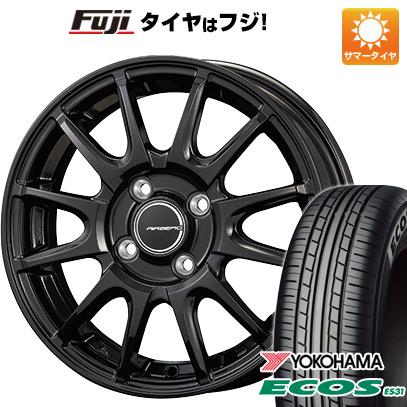 タイヤはフジ 送料無料 KOSEI コーセイ エアベルグ レバンナ 4.5J 4.50-15 YOKOHAMA エコス ES31 165/55R15 15インチ サマータイヤ ホイール4本セット