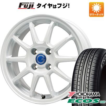 タイヤはフジ 送料無料 BRANDLE-LINE ブランドルライン カルッシャー ホワイト 5.5J 5.50-14 YOKOHAMA エコス ES31 165/70R14 14インチ サマータイヤ ホイール4本セット