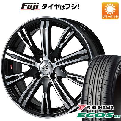 タイヤはフジ 送料無料 BLEST ブレスト バーンシュポルト タイプ525 5J 5.00-15 YOKOHAMA エコス ES31 165/55R15 15インチ サマータイヤ ホイール4本セット
