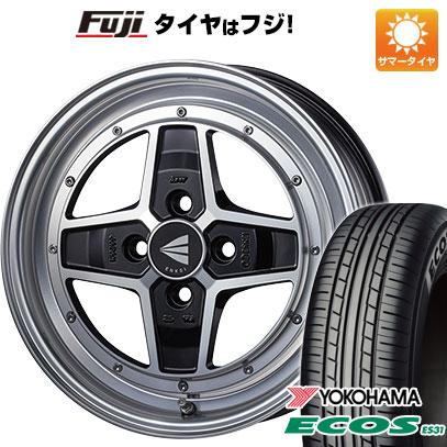 タイヤはフジ 送料無料 ENKEI エンケイ アパッチ2 5J 5.00-15 YOKOHAMA エコス ES31 165/55R15 15インチ サマータイヤ ホイール4本セット