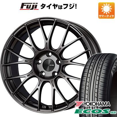 タイヤはフジ 送料無料 ENKEI エンケイ PFM1 6.5J 6.50-16 YOKOHAMA エコス ES31 185/55R16 16インチ サマータイヤ ホイール4本セット
