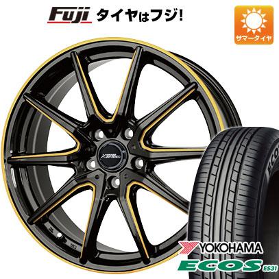 タイヤはフジ 送料無料 HOT STUFF ホットスタッフ クロススピード プレミアムRS10 シングルマシニング 7J 7.00-17 YOKOHAMA エコス ES31 215/45R17 17インチ サマータイヤ ホイール4本セット