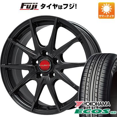 7/25はエントリーでポイント15倍 タイヤはフジ 送料無料 BIGWAY ビッグウエイ LEYBAHN WGS 7.5J 7.50-18 YOKOHAMA エコス ES31 215/45R18 18インチ サマータイヤ ホイール4本セット