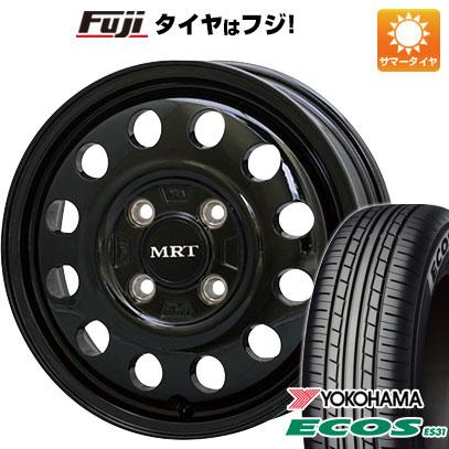 タイヤはフジ 送料無料 MORITA モリタ MRT V01 4J 4.00-13 YOKOHAMA エコス ES31 155/65R13 13インチ サマータイヤ ホイール4本セット
