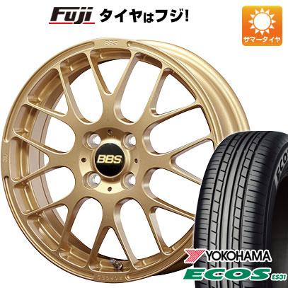 タイヤはフジ 送料無料 BBS JAPAN BBS RP 5.5J 5.50-15 YOKOHAMA エコス ES31 165/55R15 15インチ サマータイヤ ホイール4本セット