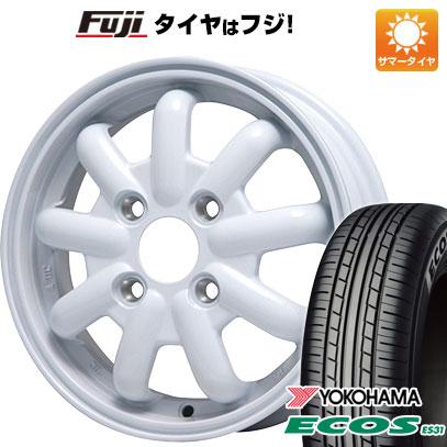 タイヤはフジ 送料無料 BRANDLE-LINE ブランドルライン ストレンジャーKST-9 (ホワイト) 4.5J 4.50-14 YOKOHAMA エコス ES31 155/65R14 14インチ サマータイヤ ホイール4本セット