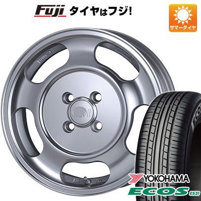 タイヤはフジ 送料無料 ENKEI エンケイ allシリーズ オールセブンティーン 5J 5.00-15 YOKOHAMA エコス ES31 165/55R15 15インチ サマータイヤ ホイール4本セット