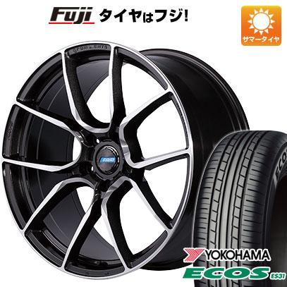 タイヤはフジ 送料無料 RAYS レイズ グラムライツ アズール57ANA 7J 7.00-17 YOKOHAMA エコス ES31 215/50R17 17インチ サマータイヤ ホイール4本セット