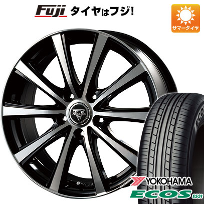 タイヤはフジ 送料無料 INTER MILANO インターミラノ レイジー XV 6J 6.00-15 YOKOHAMA エコス ES31 205/65R15 15インチ サマータイヤ ホイール4本セット