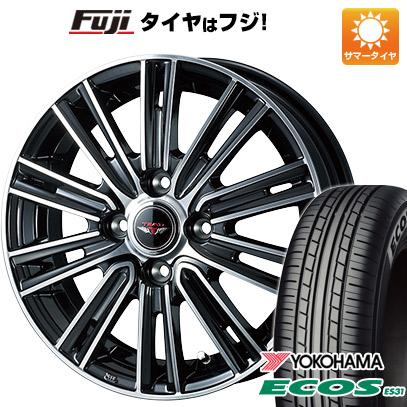 タイヤはフジ 送料無料 WEDS ウェッズ テッドスナップ 4.5J 4.50-15 YOKOHAMA エコス ES31 165/55R15 15インチ サマータイヤ ホイール4本セット