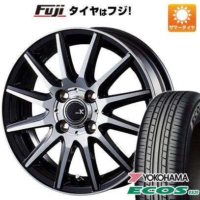 タイヤはフジ 送料無料 INTER MILANO インターミラノ スペックK 4J 4.00-13 YOKOHAMA エコス ES31 155/65R13 13インチ サマータイヤ ホイール4本セット