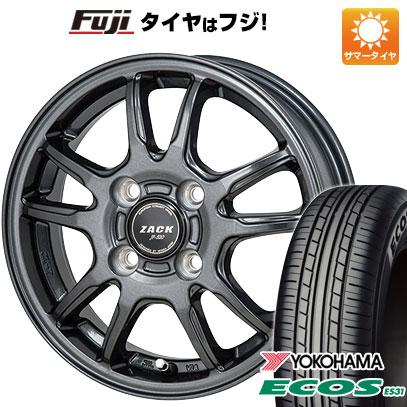 タイヤはフジ 送料無料 ソリオ(MA26S) MONZA モンツァ ZACK JP-520 4.5J 4.50-14 YOKOHAMA エコス ES31 165/70R14 14インチ サマータイヤ ホイール4本セット