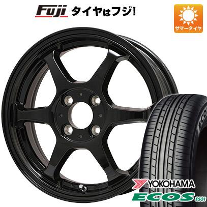 タイヤはフジ 送料無料 LEHRMEISTER リアルスポーツ カリスマVS6 5J 5.00-14 YOKOHAMA エコス ES31 165/55R14 14インチ サマータイヤ ホイール4本セット