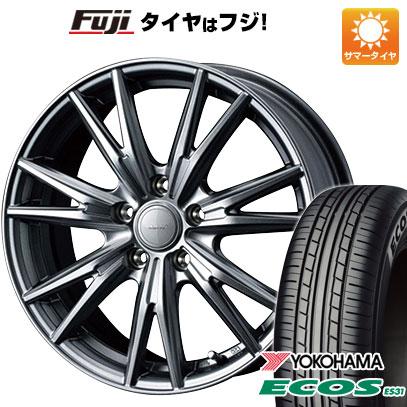 タイヤはフジ 送料無料 WEDS ウェッズ ヴェルバ ケヴィン 8J 8.00-18 YOKOHAMA エコス ES31 225/45R18 18インチ サマータイヤ ホイール4本セット