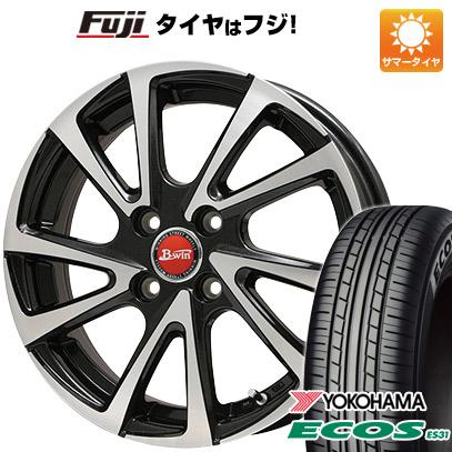 タイヤはフジ 送料無料 BIGWAY ビッグウエイ B-WIN ヴェノーザ10 6.5J 6.50-16 YOKOHAMA エコス ES31 205/60R16 16インチ サマータイヤ ホイール4本セット