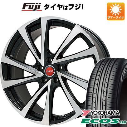 タイヤはフジ 送料無料 BIGWAY ビッグウエイ B-WIN ヴェノーザ10 7.5J 7.50-18 YOKOHAMA エコス ES31 225/45R18 18インチ サマータイヤ ホイール4本セット