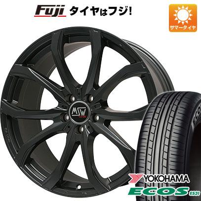 タイヤはフジ 送料無料 MSW by OZ Racing MSW 48(マットブラック) 7.5J 7.50-17 YOKOHAMA エコス ES31 215/55R17 17インチ サマータイヤ ホイール4本セット
