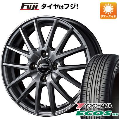 タイヤはフジ 送料無料 MID シュナイダー SQ27 5.5J 5.50-14 YOKOHAMA エコス ES31 185/70R14 14インチ サマータイヤ ホイール4本セット