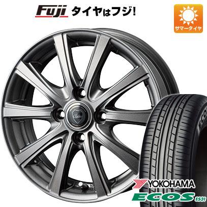 タイヤはフジ 送料無料 INTER MILANO インターミラノ クレール DG10 4.5J 4.50-14 YOKOHAMA エコス ES31 165/55R14 14インチ サマータイヤ ホイール4本セット