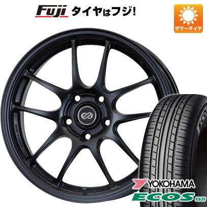 タイヤはフジ 送料無料 ENKEI エンケイ PF01 6.5J 6.50-15 YOKOHAMA エコス ES31 185/60R15 15インチ サマータイヤ ホイール4本セット