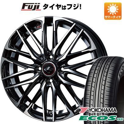 タイヤはフジ 送料無料 WEDS ウェッズ レオニス SK 4.5J 4.50-14 YOKOHAMA エコス ES31 165/55R14 14インチ サマータイヤ ホイール4本セット