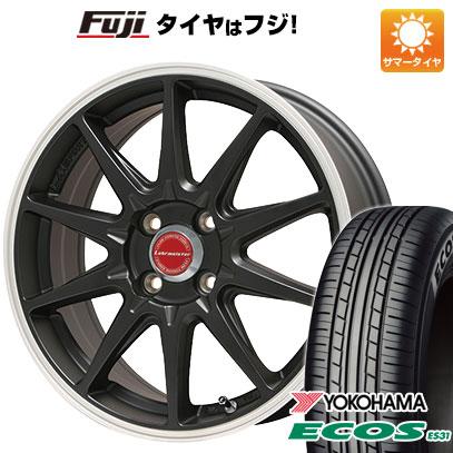 タイヤはフジ 送料無料 LEHRMEISTER レアマイスター LMスポーツRS10(マットブラックリムポリッシュ) 6.5J 6.50-16 YOKOHAMA エコス ES31 185/55R16 16インチ サマータイヤ ホイール4本セット