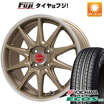 タイヤはフジ 送料無料 LEHRMEISTER レアマイスター LMスポーツRS10(マットブロンズリムポリッシュ) 4.5J 4.50-14 YOKOHAMA エコス ES31 165/65R14 14インチ サマータイヤ ホイール4本セット