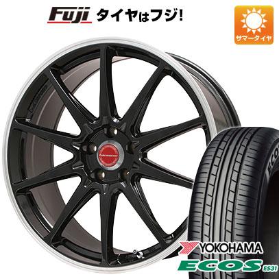 タイヤはフジ 送料無料 LEHRMEISTER レアマイスター LMスポーツRS10(グロスブラックリムポリッシュ) 7.5J 7.50-17 YOKOHAMA エコス ES31 215/50R17 17インチ サマータイヤ ホイール4本セット