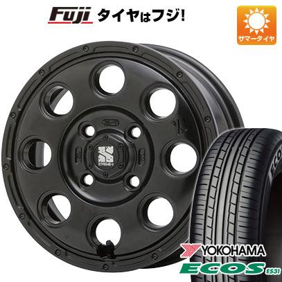 タイヤはフジ 送料無料 MLJ エクストリームJ KK03 4.5J 4.50-15 YOKOHAMA エコス ES31 165/50R15 15インチ サマータイヤ ホイール4本セット