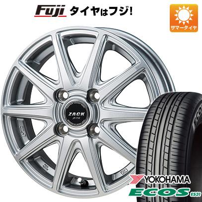7/25はエントリーでポイント15倍 タイヤはフジ 送料無料 MONZA モンツァ ZACK JP-710 4.5J 4.50-14 YOKOHAMA エコス ES31 165/55R14 14インチ サマータイヤ ホイール4本セット