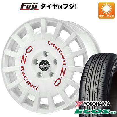 タイヤはフジ 送料無料 OZ ラリーレーシング 7J 7.00-17 YOKOHAMA エコス ES31 215/55R17 17インチ サマータイヤ ホイール4本セット