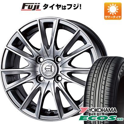 タイヤはフジ 送料無料 TECHNOPIA テクノピア アフロディーテ EF 5J 5.00-15 YOKOHAMA エコス ES31 165/55R15 15インチ サマータイヤ ホイール4本セット