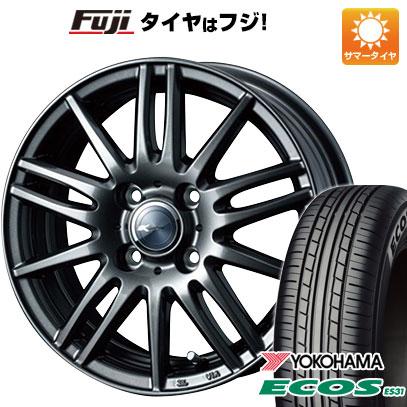 タイヤはフジ 送料無料 WEDS ウェッズ ザミック ティート 4.5J 4.50-14 YOKOHAMA エコス ES31 165/55R14 14インチ サマータイヤ ホイール4本セット