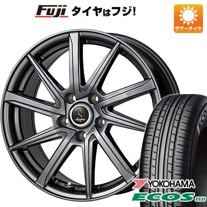 タイヤはフジ 送料無料 WORK ワーク セプティモ G01 ダークグレー 7J 7.00-17 YOKOHAMA エコス ES31 215/50R17 17インチ サマータイヤ ホイール4本セット