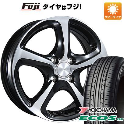 タイヤはフジ 送料無料 BRIDGESTONE ブリヂストン バルミナ Z5 5.5J 5.50-15 YOKOHAMA エコス ES31 175/55R15 15インチ サマータイヤ ホイール4本セット