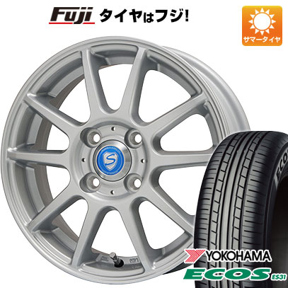 タイヤはフジ 送料無料 BRANDLE ブランドル 302 4.5J 4.50-14 YOKOHAMA エコス ES31 165/65R14 14インチ サマータイヤ ホイール4本セット