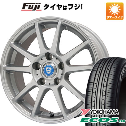 タイヤはフジ 送料無料 BRANDLE ブランドル 302 6J 6.00-15 YOKOHAMA エコス ES31 195/65R15 15インチ サマータイヤ ホイール4本セット