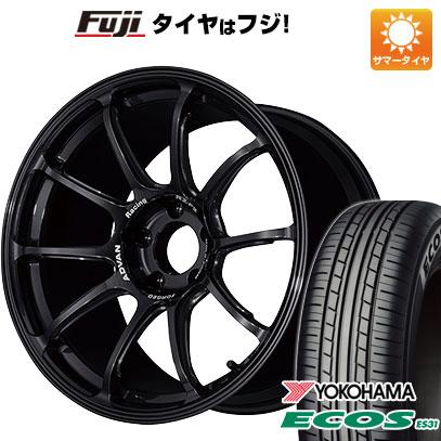 タイヤはフジ 送料無料 YOKOHAMA アドバンレーシング RZーF2 8J 8.00-18 YOKOHAMA エコス ES31 225/45R18 18インチ サマータイヤ ホイール4本セット