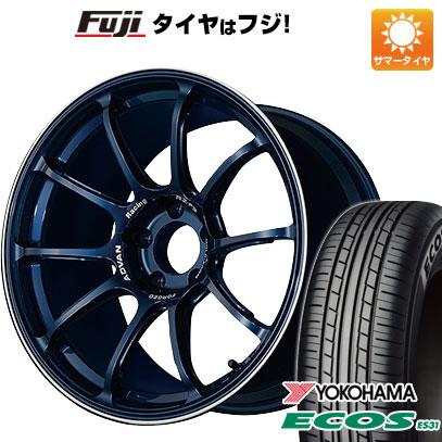 タイヤはフジ 送料無料 YOKOHAMA アドバンレーシング RZーF2 7.5J 7.50-18 YOKOHAMA エコス ES31 215/45R18 18インチ サマータイヤ ホイール4本セット