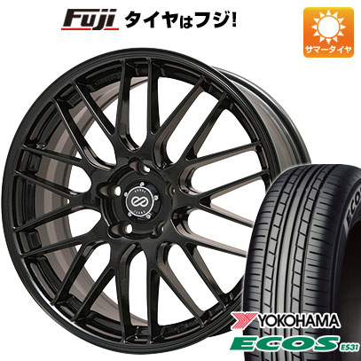 タイヤはフジ 送料無料 ENKEI エンケイ EKM3 7J 7.00-17 YOKOHAMA エコス ES31 215/50R17 17インチ サマータイヤ ホイール4本セット