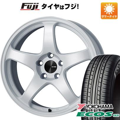 タイヤはフジ 送料無料 ENKEI エンケイ PF05 6.5J 6.50-16 YOKOHAMA エコス ES31 185/55R16 16インチ サマータイヤ ホイール4本セット