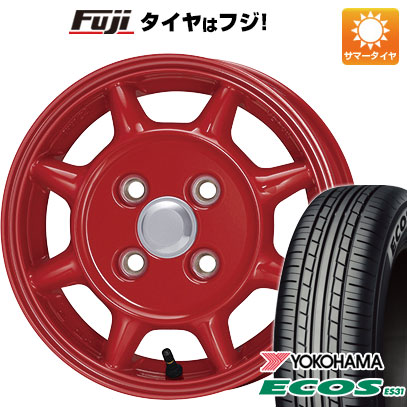 タイヤはフジ 送料無料 ENKEI エンケイ SAMシリーズ タフ 4.5J 4.50-13 YOKOHAMA エコス ES31 155/65R13 13インチ サマータイヤ ホイール4本セット
